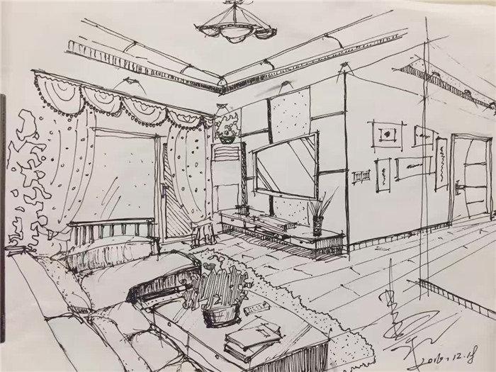 浅析手绘室内设计效果图